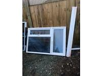 Used upvc white window 1795mm wide x 1210mm high