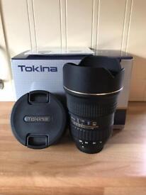 Tokina 16-28 f2.8 pro Fx lens for Nikon
