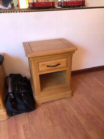 Oak Furniture Land Bedside Cabinets x 2