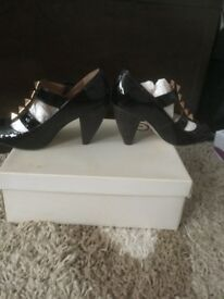 Sexy studded Kurt Geiger heels with buckle details size 4