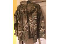 Camouflage airsoft/paintball jacket, trousers and shirt