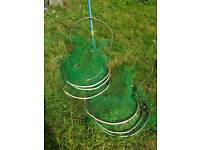 Metal hoops FREE- for netting vegetable rows.