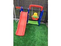 Baby chute and swing set