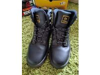 Dunlop Waterproof Mens Safety Boots - Steel Toe - Size 10-11 - Excellent Cond., Only Been Worn 3x