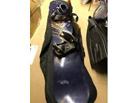 Wild duck of Switzerland 158 Snowboard and size 11 boots
