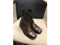Mens size 8 Russell & Bromley snake skin boot