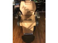 Leather barber chair