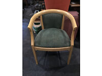 Lovely Contemporary Solid Beech Wood Upholstered Tub Chair