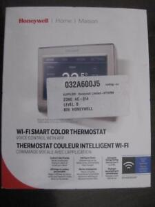 Honeywell Wi-Fi Smart Thermostat. Color Touchscreen Display. Advance Cooling and Fan Control. Security / Locking Feature