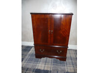TV cabinet drinks cabinet in natural wood finish