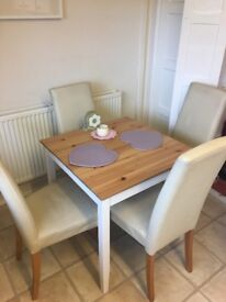 Table & 4 Next leather chairs