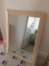 Wooden mirror