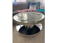 GORGEOUS BARGAIN! Crushed diamond coffee table