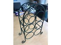 Green Metal Wine Bottle Holder/ Rack