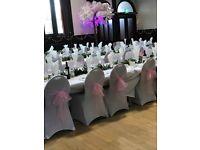 100 pink wedding chair sashes