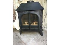 Stovax Stockton multi-fuel stove (clean-burn) 8kw. Used