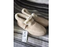 Ladies size 4 bootee style slippers