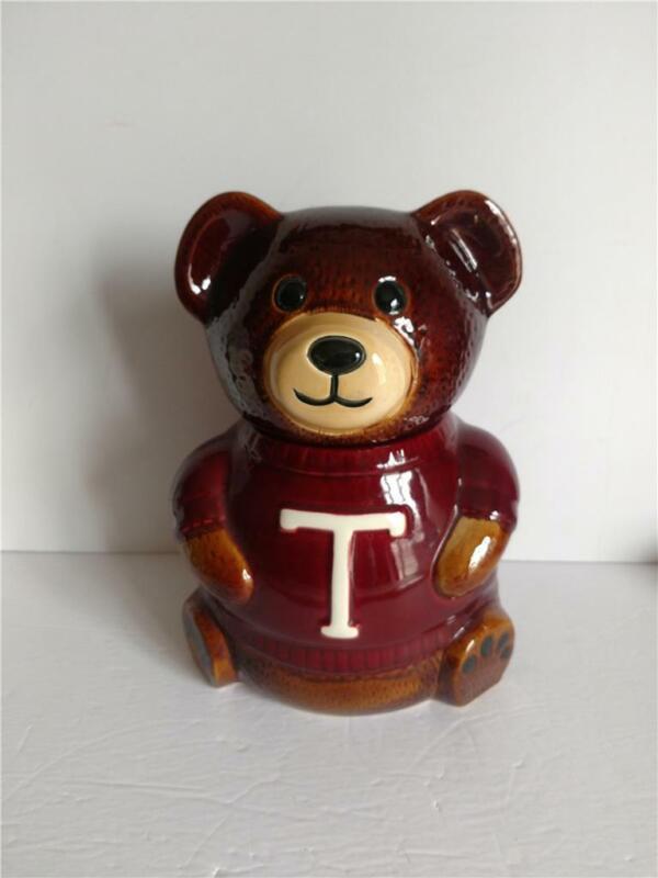 Brown Teddy Bear T Shirt Cookie Jar