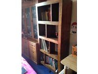Marks and Spencer solid walnut bookcase/unit in excellent condition