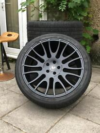 22 inch Hamann Alloy Wheels With Tyres for LR Range Rover Sport, Discovery, Vogue, BMW X5 E53