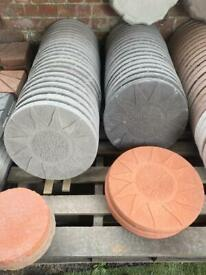 *NEW* SUNSHINE CONCRETE STEPPING STONE / FLAGS