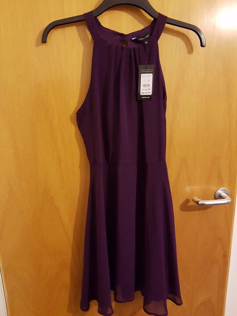 Purple dress 12in Tillicoultry, ClackmannanshireGumtree - Purple dress from New Look Size 12 New still with tags Bought for £19.99 sell for £10