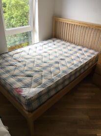 DOUBLE BED AND MATTRESS FOR SALE IN HERTFORD VERY GOOD CONDITION