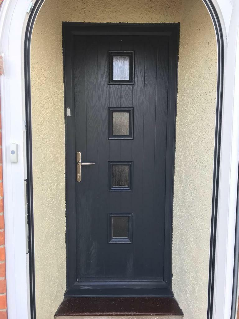 Grey UPVC Door and Frame | in Bury St Edmunds, Suffolk | Gumtree