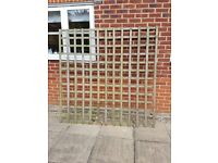 GARDEN TRELLIS - USED BUT LOTS OF LIFE LEFT IN THEM. 6FT X6FT. FOUR AVAILABLE. £5 EACH