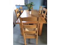 Solid Hardwood Dining Table and 6 Chairs - used but in great condition