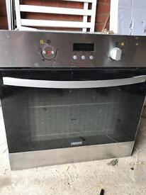 Zanussi electric oven integrated