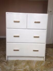 White sturdy set of drawers