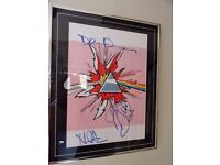 Pink Floyd Art Poster - SIGNED BY THE BAND! - With Guarantee - 1 in the world.