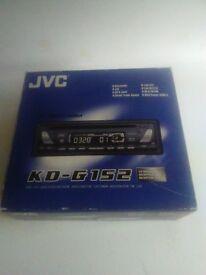 JVC Car radio and CD player KD G152 boxed