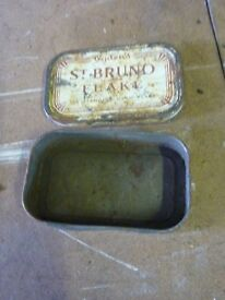 old collectible vintage tin st bruno flake