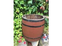 Medium functional barrel for garden as a planter, fireside, etc