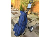 Golf bag, Trolley and 4 ladies clubs