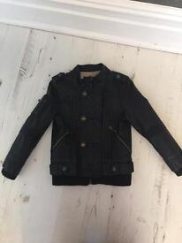 Girls River Island leather jacket
