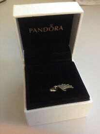 Genuine Pandora Silver Angle Wing Charm