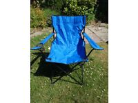 BRAND NEW Blue Fold Away Camping Chair