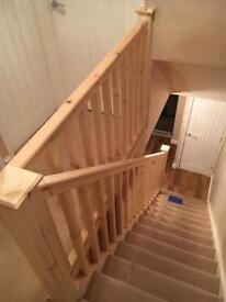 All new Complete Stair parts spindles newel posts handrails