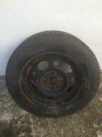 Ford Sierra wheel with Goodyear 185/65 R14 tyre