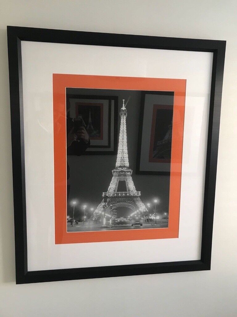 Large pictures in black frames. Paris themed.   in Chichester, West ...