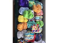Full set of washable nappies (Itti Bitti) + accessories
