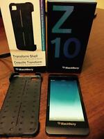 Blackberry Z10 Mint Condition with Case and Chargers