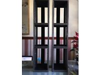 Brown Faux leather CD racks