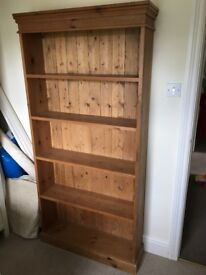 Aged pine bookcase