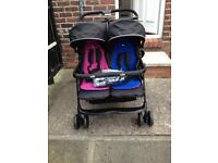 Joie Twin Pushchair in excellent clean condition. (comes with box)