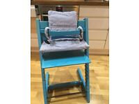 Tripp trapp stokke blue high chair