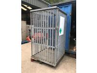 Secure cage for storing flammables